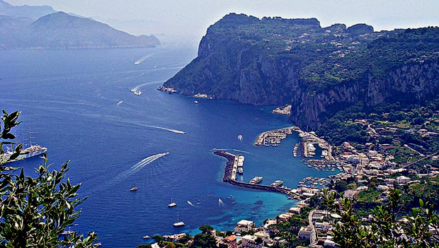 capri island in southern italy
